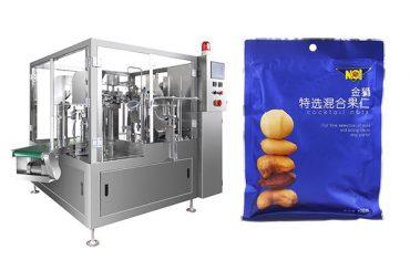 pre-made bag food granule na pagpuno ng sealing packaging machine